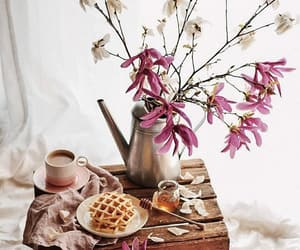 cup, flowers, and honey image