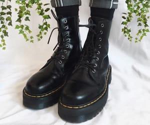 alternative, black, and black boots image
