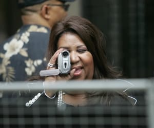 aretha franklin, recording, and reaction image