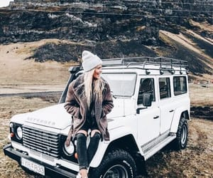girl, jeep, and nature image