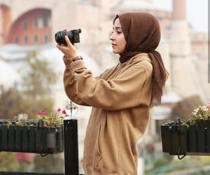 hijab fashion and girly beauty style image