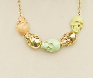 skull, fashion, and gold image