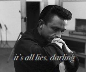 black, darling, and Johnny Cash image