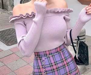 accessories, korean fashion, and purple image