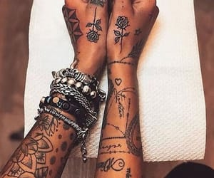 tattoo, hands, and roses image