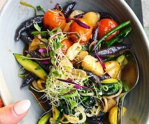 dumpling, herb oil, and health image