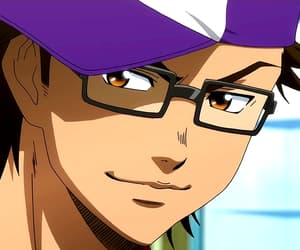 anime, glasses, and handsome image