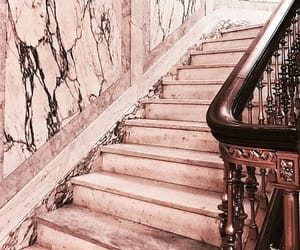 gold, rose, and stairs image