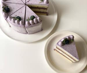 blueberry, cafe, and cake image