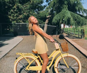 bike, girl, and style image