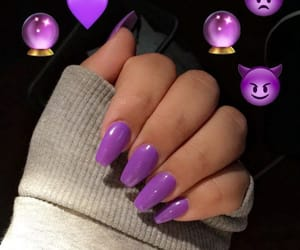 nails, ongles, and purple image