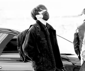 black and white, celebrities, and jin image
