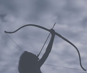 arrow, black and white, and bow image