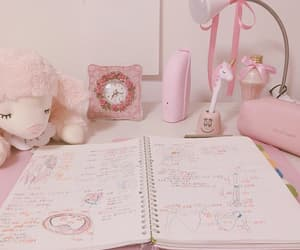 pink, aesthetic, and study image