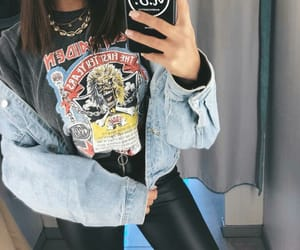 black, jean, and look image