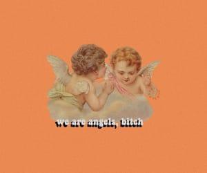 angels, orange, and aesthetic image