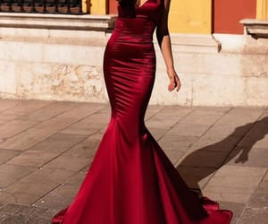 red, beautiful, and fashion image