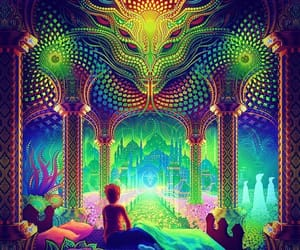 psychedelic, art, and drugs image
