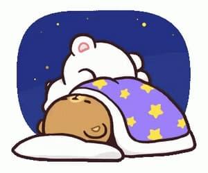 bears, gif, and sleep image