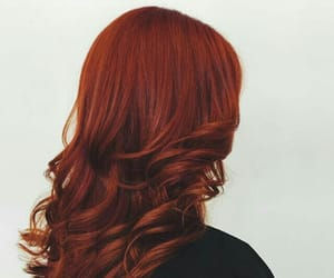red, hair, and black widow image