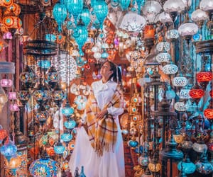 bazaar, istanbul, and lantern image