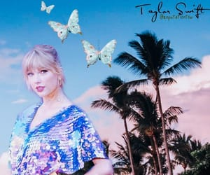 butterfly, palm trees, and taylor image