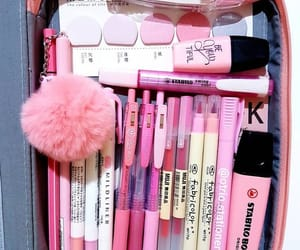 pencil, pink, and stationery image