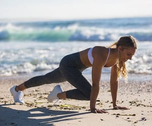 fitness, girl, and sea image