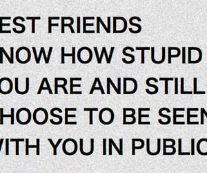 best friends, stupid, and quotes image