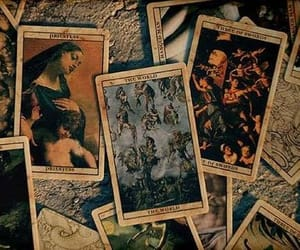tarot, witch, and art image