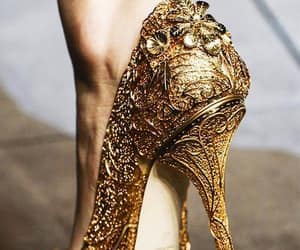 shoes, gold, and fashion image