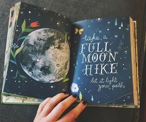 art, moon, and journal image
