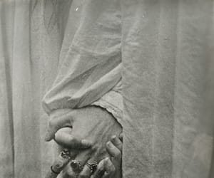 dark, hands, and black and white image