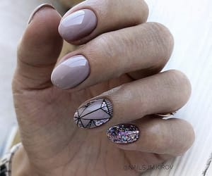 glow, nails, and nailsart image