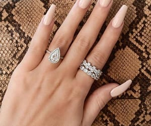nails, girl, and jewelry image