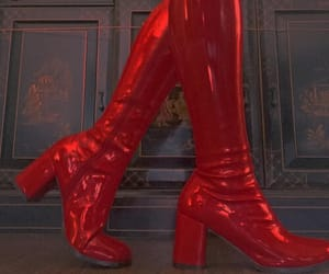 red, boots, and aesthetic image