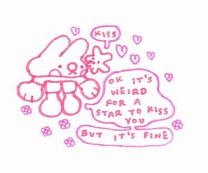 bunny, drawing, and star image