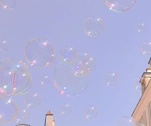 aesthetic, bubbles, and sky image