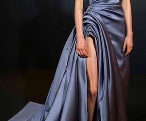 dress, fashion, and satin image