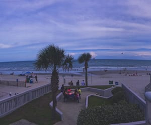 beach, mother nature, and myrtle beach image