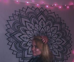 blonde, blonde hair, and pink image