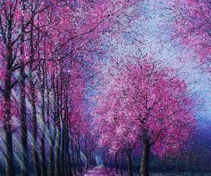 art, beautiful, and cherry blossom image