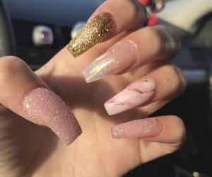 art, pink, and nail art image