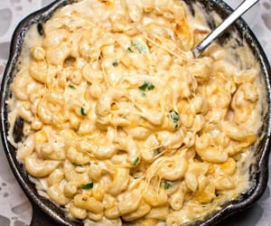 food, pasta, and mac n cheese image