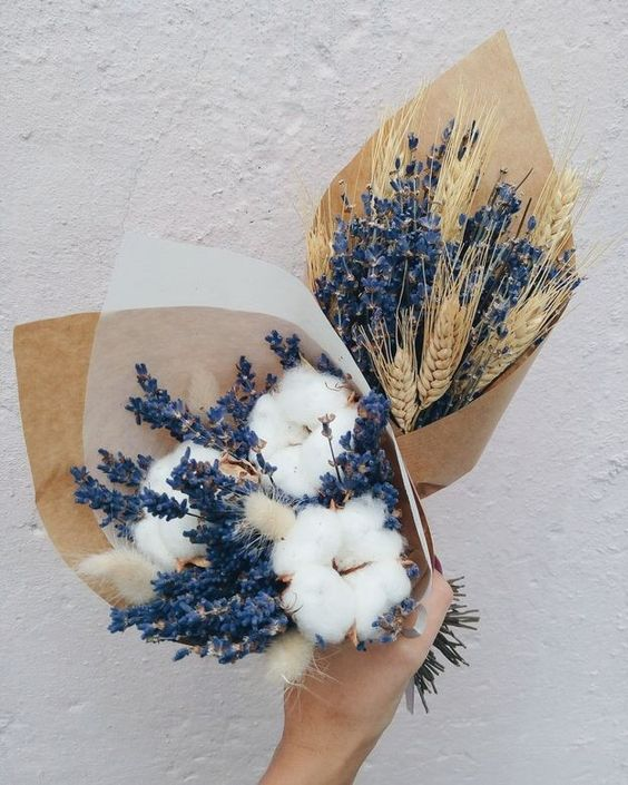 flowers, blue, and cotton image