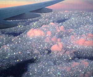 sky, aesthetic, and glitter image