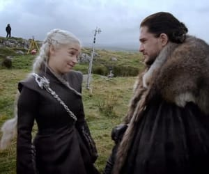emilia clarke and kit harington image
