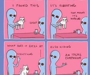 alien, cat, and meme image
