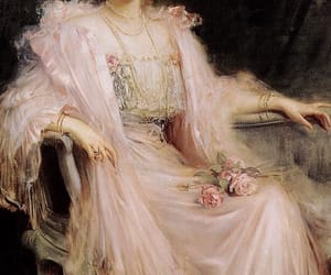 art, pink, and rose image