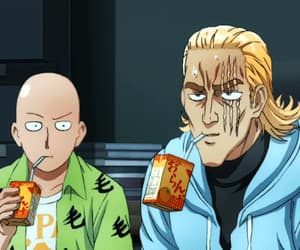 anime, one punch man, and gif image